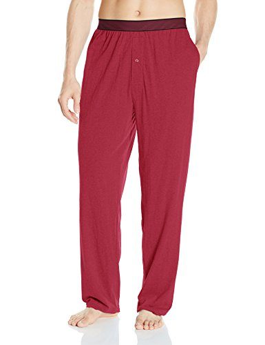 Hanes Men's Striped Band Cotton Jersey Sleep Pant