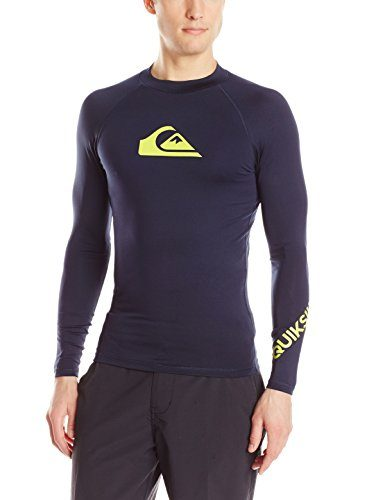 Quiksilver Men's All Time Long Sleeve Surf Tee Rashguard