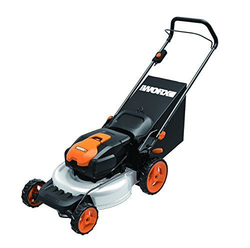 WORX WG770 36V 2-in-1 Cordless Mower with Single Lever Depth Setting, 19-Inch