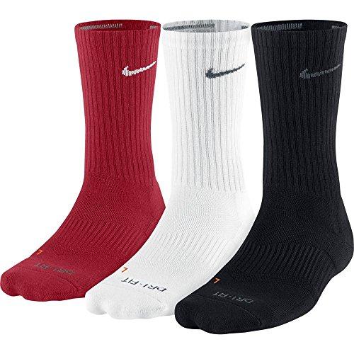Nike Men's Dri-Fit Cushion Crew Socks - 3 Pair Pack, Sizes 8-12 and 12-15