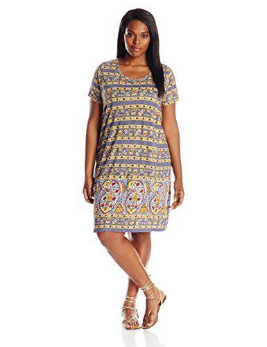Lucky Brand Women's Plus-Size Paisley Print Dress