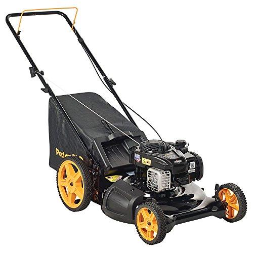 Poulan Pro 961320098 Poulan Pro 961320093 PR550N21RH3 Briggs 550ex Side Discharge/Mulch/Bag 3-in-1 Hi-Wheel Push Mower in 21-Inch Deck, 11-inch wheels