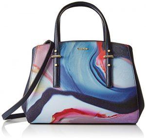 Calvin Klein Saffiano Printed Satchel Bag