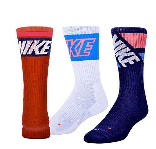 Nike Dri Fit Men's Cushioned Crew Socks (X-Large, Retro Pack)