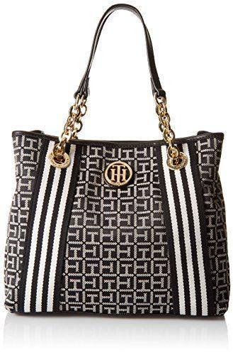 Tommy Hilfiger Web Jacquard Shopper Tote Bag