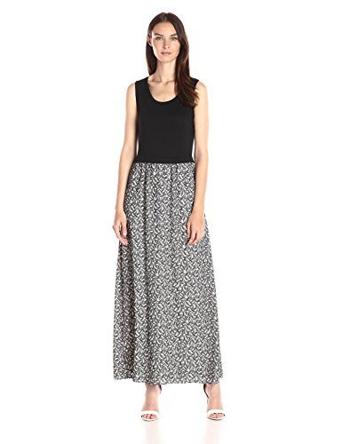 Calvin Klein Women's Maxi Dress with Leaf Jacquard