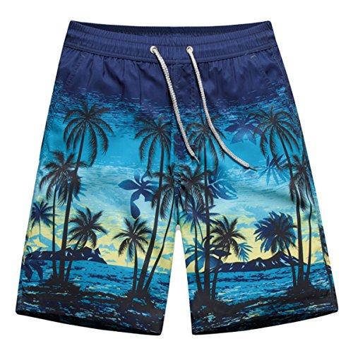 APTRO Men's Summer Casual Shorts Adjustable Drawstring Board Short