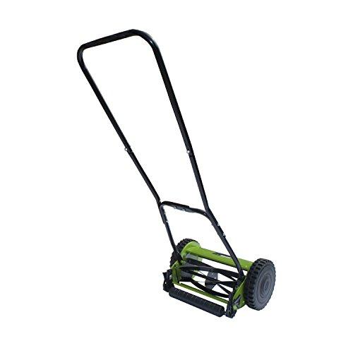 ALEKO GHPM12 5-Blade 12 Inch Hand Push Lawn Mower Adjustable Grass Cutting Height
