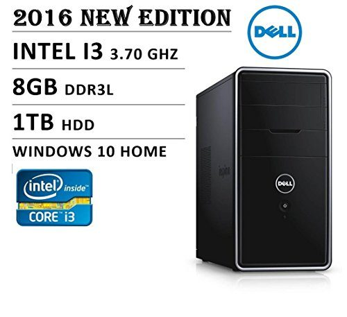 2016 Newest Dell Inspiron 3000 Series i3847 Flagship High Performance Desktop PC, Intel Core i3 Processor 3.7GHz, 8GB RAM, 1TB HDD, DVD+/-RW, WiFi, Bluetooth, HDMI, Windows 10,