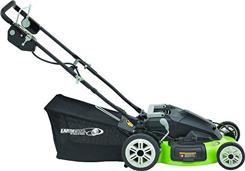 Earthwise 20-Inch 36-Volt Side Discharge/Mulching/Bagging Cordless Electric Lawn Mower, Model 60236