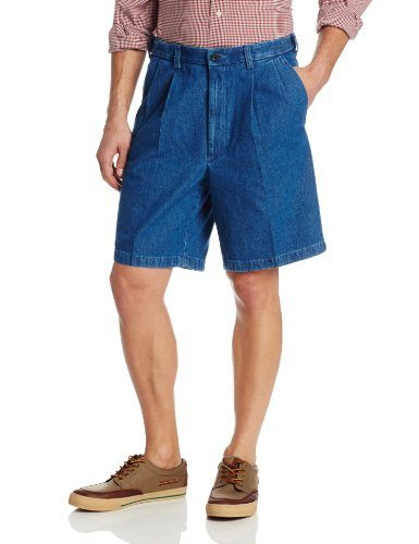 Haggar Men's Work To Weekend Expandable-Waist Pleat-Front Short