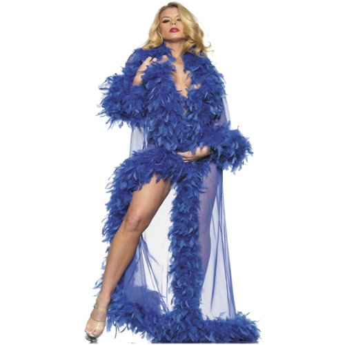 Be Wicked Glamour Robe, Blue