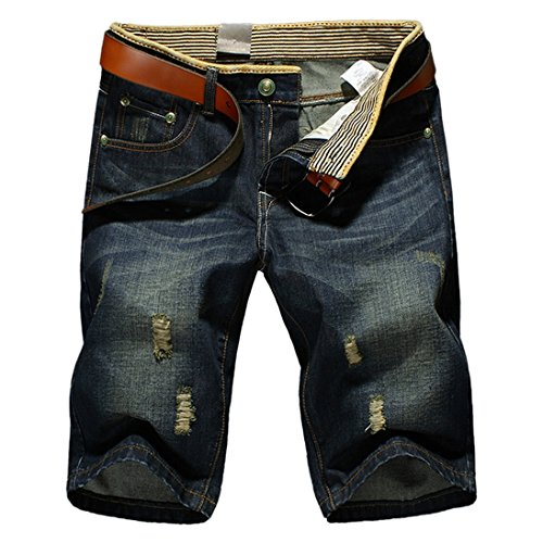 AutumnFall(TM)New Summer Men's Denim Shorts Relaxed-Fit Short