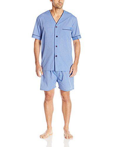 Majestic International Men's Easy Care Blended Shorty Pajama Set