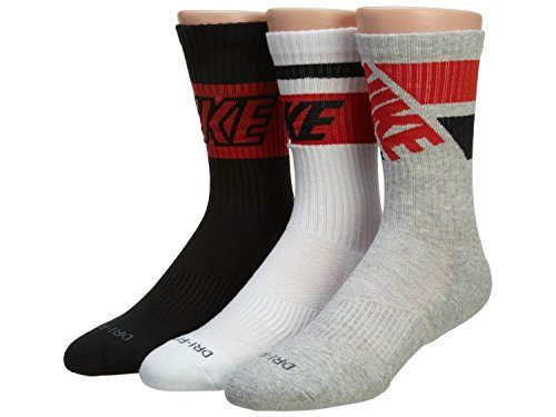 Nike Fly Rise Crew Socks (x-large, Black/White/Red)
