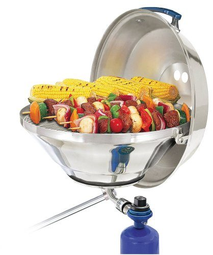 Magma A10-215 Marine Kettle Gas Grill with Hinged Lid, Party Size
