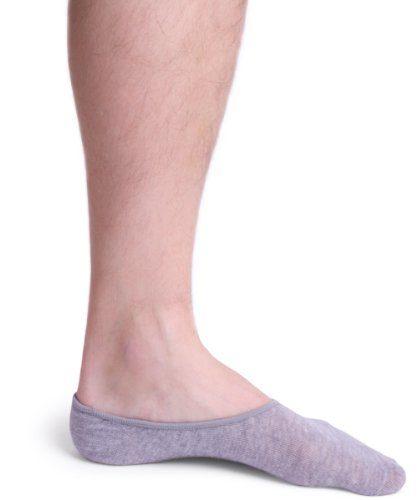 No Show Socks For Men 3pk Quality Cotton Lge Heel Grip Non Slip