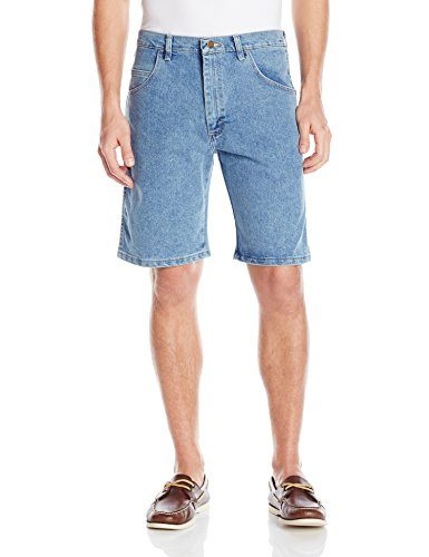 Wrangler Men's Rugged Wear Advanced Comfort Relaxed Fit Bleach Wash Short