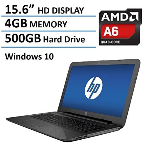 "2016 Newest HP Pavilion 15.6"" Premium High Performance Laptop PC, AMD Quad-Core A6-5200 Processor, 4GB RAM, 500GB HDD, DVD+/-RW, Webcam, WIFI, HDMI, Windows 10"