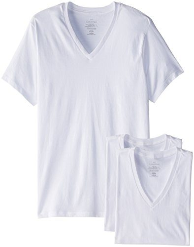 Calvin Klein Men's 3-Pack Cotton Classic V-Neck Tee