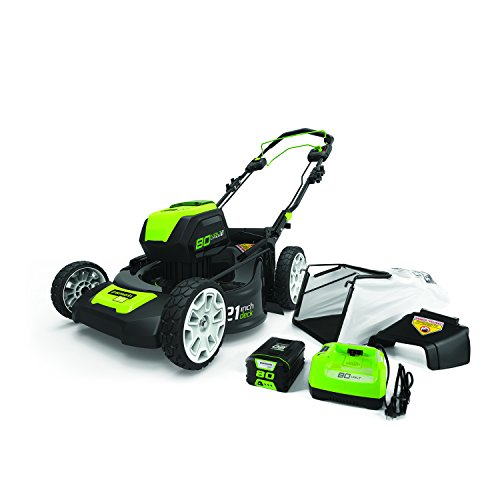 GreenWorks MO80L510 80V Brushless Self-Propelled Lawn Mower, 21""