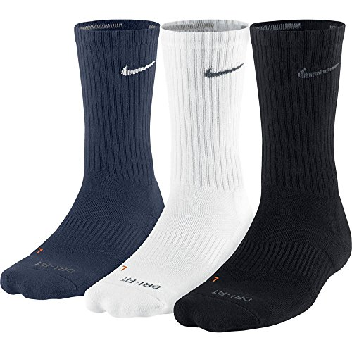 Nike Dri-Fit Half-Cushion Crew 904 Black/White/Navy M