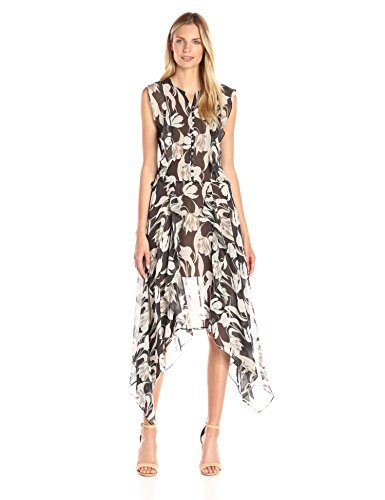 BCBGMax Azria Women's Jann Printed Sleeveless Dress