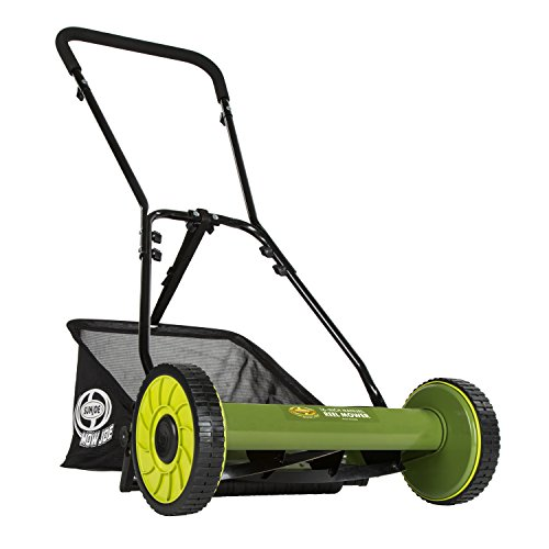Sun Joe Mow Joe MJ500M 16-Inch Manual Reel Mower with Catcher