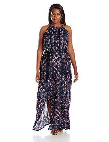 Lucky Brand Women's Plus-Size Printed Maxi Dress