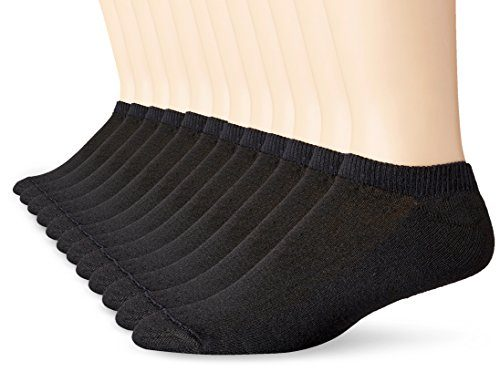 Hanes Men's No Show Socks (Pack of 12)