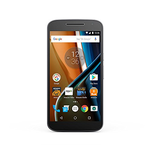 Moto G (4th Generation) – Black – 16 GB – Unlocked – Prime Exclusive – with Lockscreen Offers & Ads