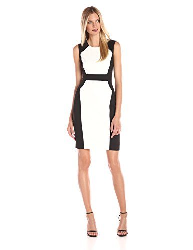 Calvin Klein Women's Colro Block Scuba Sheath