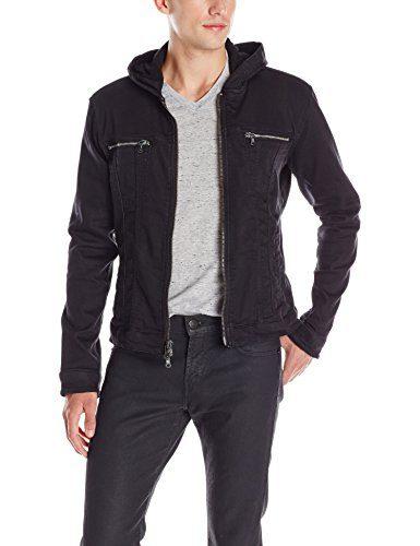 John Varvatos Men's Hooded Jean Jacket