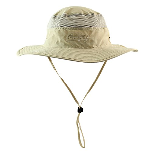 Connectyle Outdoor Mesh Sun Hat Camouflage Bucket Hats Fishing Hats with String