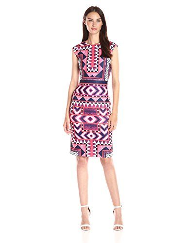 Vince Camuto Women's Geometric Printed Bodycon Dress
