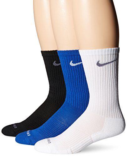 Nike Men's 3 Pack Dri-Fit Crew Blue/White/Black SX4827-948