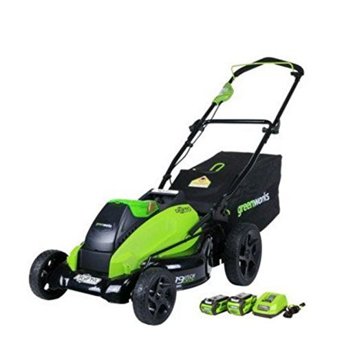 GreenWorks 2500502 DigiPro G-MAX 40V 19-Inch Cordless Lawn Mower w/ (1) 4Ah (1) 2Ah Batteries & Charger