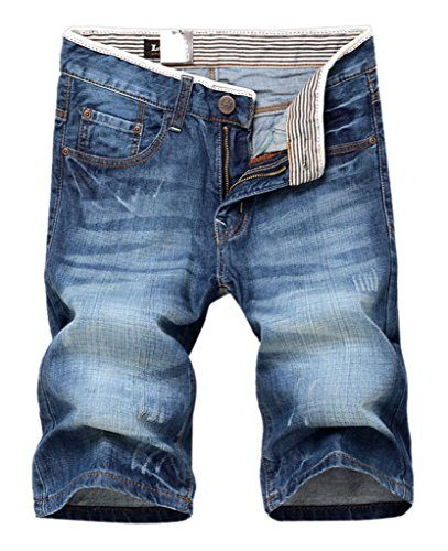 Easy Mens Fashion Denim Shorts Casual Jeans Summer Half Pant Beach