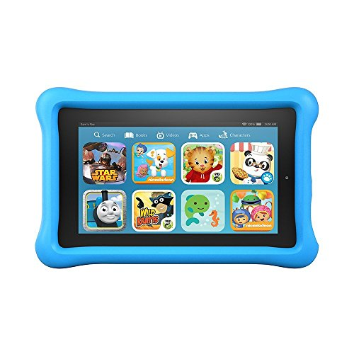 "Fire Kids Edition Tablet, 7"" Display, Wi-Fi, 16 GB, Blue Kid-Proof Case"