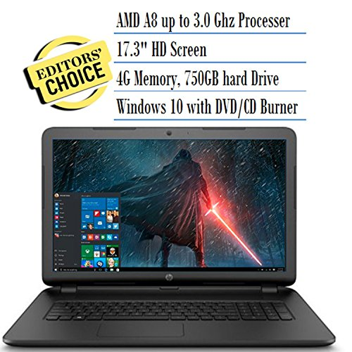 HP 17.3 Inch Notebook Laptop (AMD A8-7050 Processor up to 3.0GHz, 4GB RAM, 750GB Hard Drive) (Certified Refurbished)