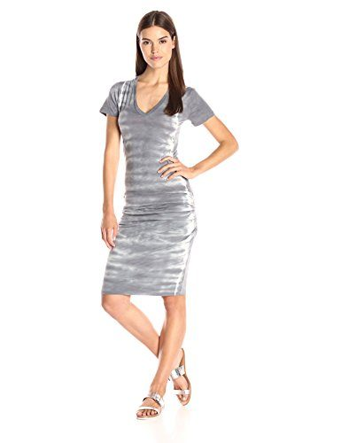 Monrow Women's Fishbone V Neck Dress