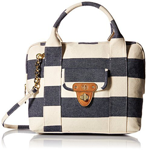 Tommy Hilfiger Rugby Stripe Satchel Bag