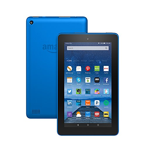 "Fire Tablet, 7"" Display, Wi-Fi, 16 GB - Includes Special Offers, Blue"