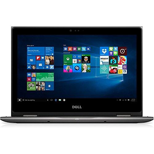 """Dell i5368-1692GRY 13.3"""" FHD 2-in-1 Laptop (Intel Core i3-6100U 2.3GHz Processor, 4 GB RAM, 1 TB HDD, Windows 10) Gray"""