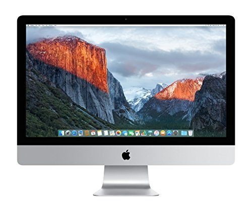 Apple iMac MK462LL/A 27-Inch Retina 5K Desktop (3.2 GHz Intel Core i5, 8GB DDR3, 1TB, Mac OS X), Silver