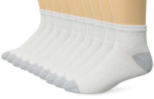 Hanes Men's 10 Pack Ultimate Ankle Socks