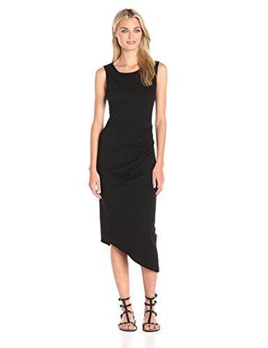 Michael Stars Women's Rushed Midi Tee Dress