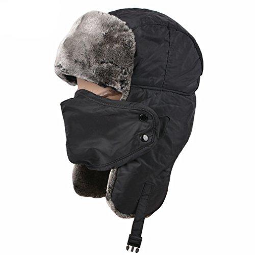 Mysuntown Unisex Winter Ear Flap Hat Trooper, Trapper, Hunting Hat Ushanka