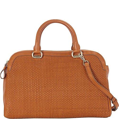 Cole Haan Leesa Weave Double Zip Satchel Convertible Shoulder Bag