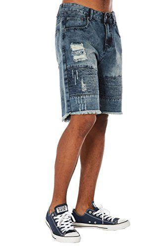 Agile Men's Super Comfy Slim Fit Released Hem Denim Short